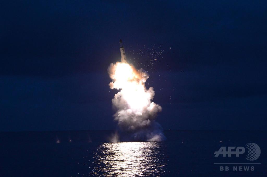 北朝鮮のSLBM発射、金正恩氏が視察 「最も偉大な成功」