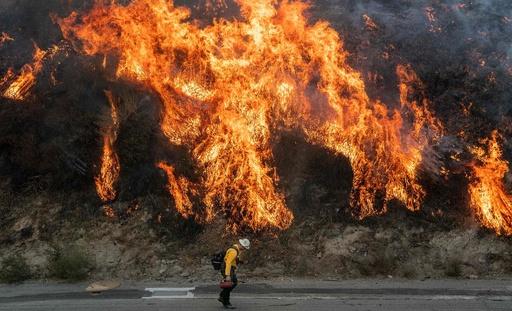 カリフォルニア南部の森林火災、焼失面積は30平方キロ以上