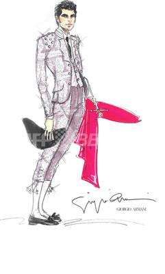 ジョルジオ アルマーニ、闘牛士の衣装をデザイン