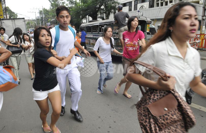 フィリピン中部でM6.8の地震、43人死亡