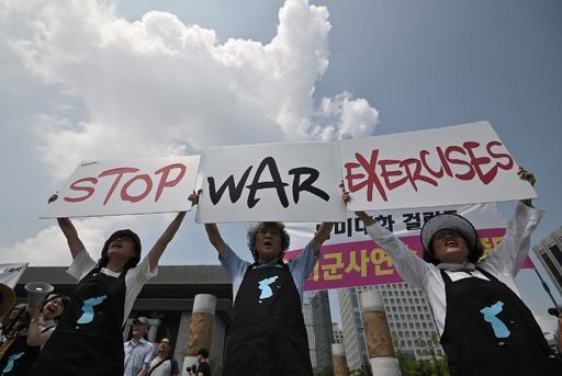 米韓合同演習開始、北朝鮮の警告無視