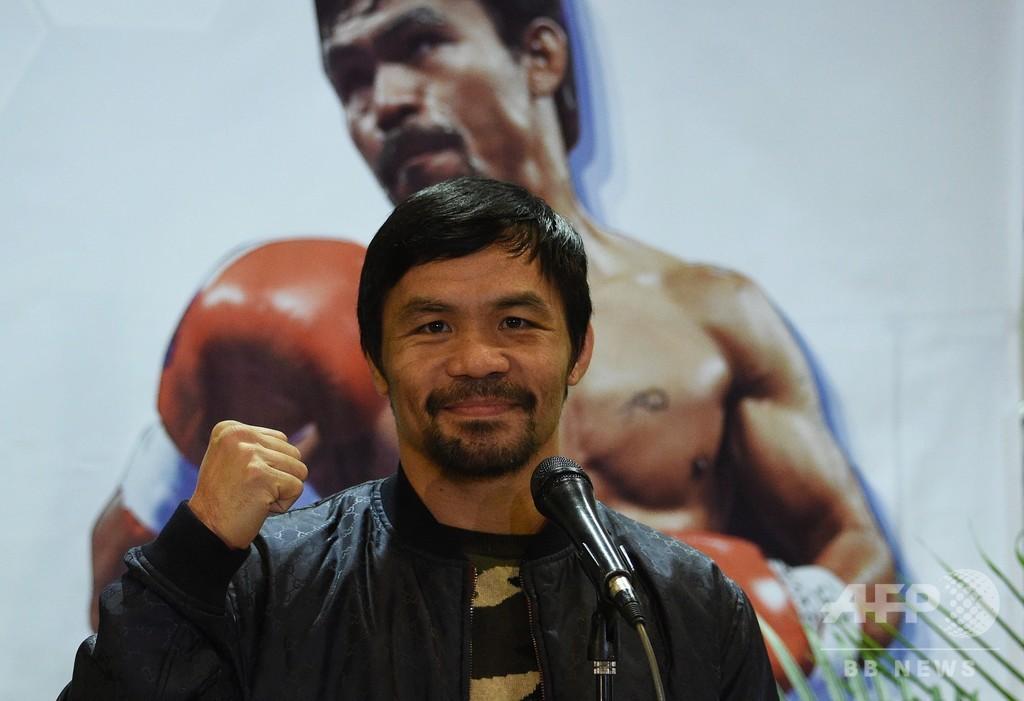 パッキャオ「もうやらせるしかない」、息子のボクシング挑戦許す