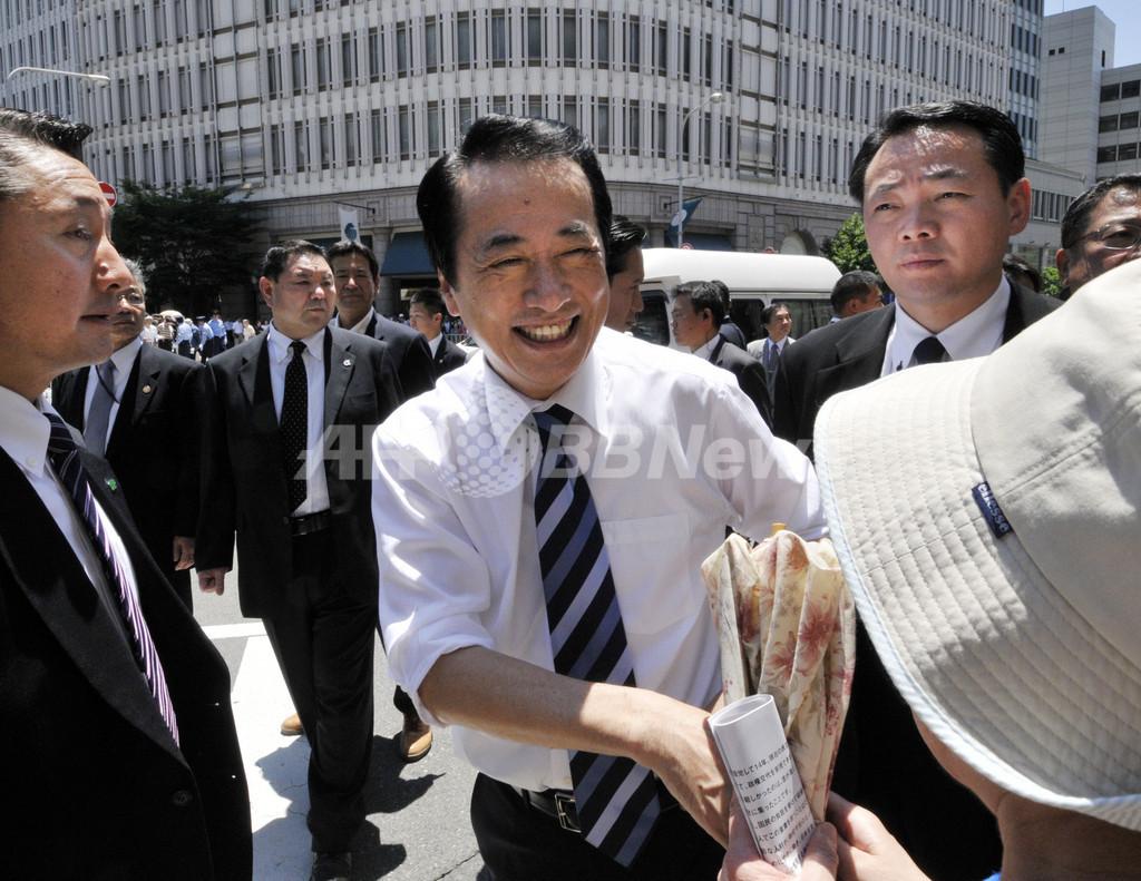 参院選スタート、菅首相は大阪で第一声