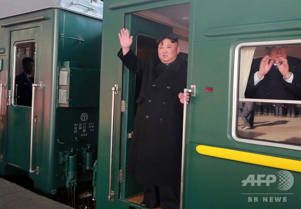 金正恩氏乗せた列車、中国に到着 27、28日にベトナムで米朝首脳会談