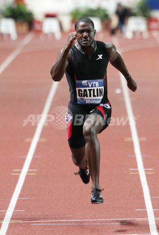 ガトリンが男子100メートルで優...