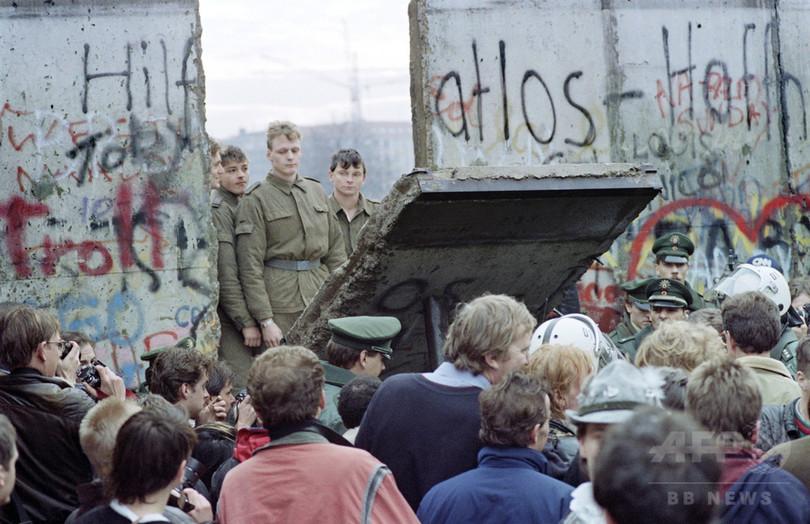 特集】ベルリンの壁崩壊、AFPが...