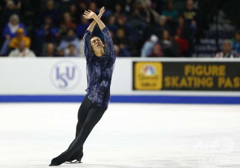 世界王者チェンがスケート・アメリカ優勝、大学との両立に苦慮もさすがの滑り