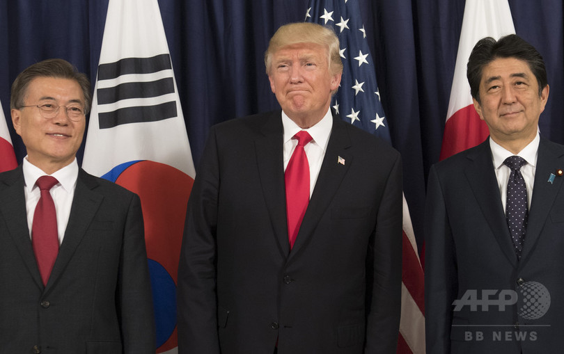 トランプ大統領、日韓首脳と21日に会談 北朝鮮問題を協議へ