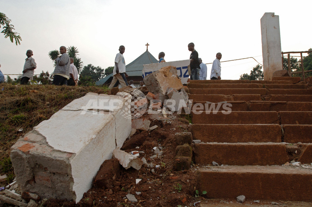 コンゴとルワンダ国境付近で地震、少なくとも40人死亡