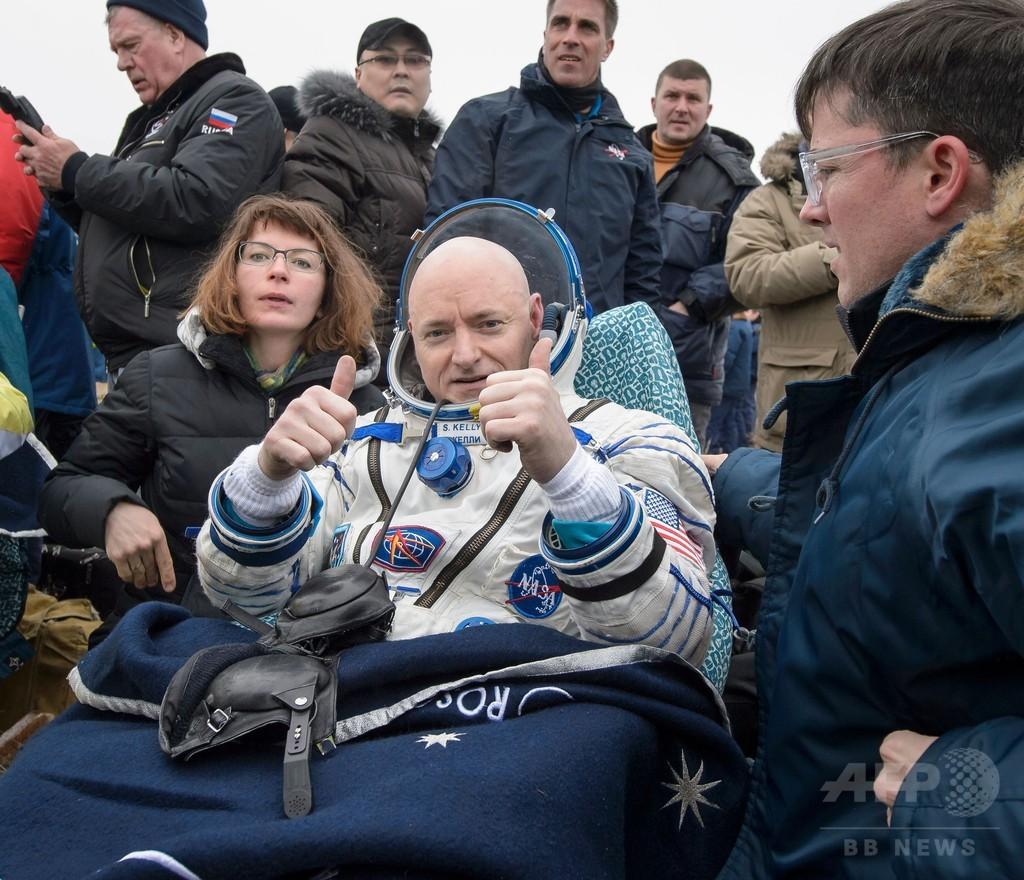ISSに最長の1年滞在、宇宙飛行士が地球に帰還