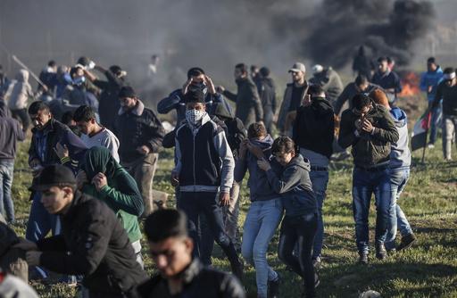 ガザ境界で続く抗議デモ、パレスチナ側の死者250人超に
