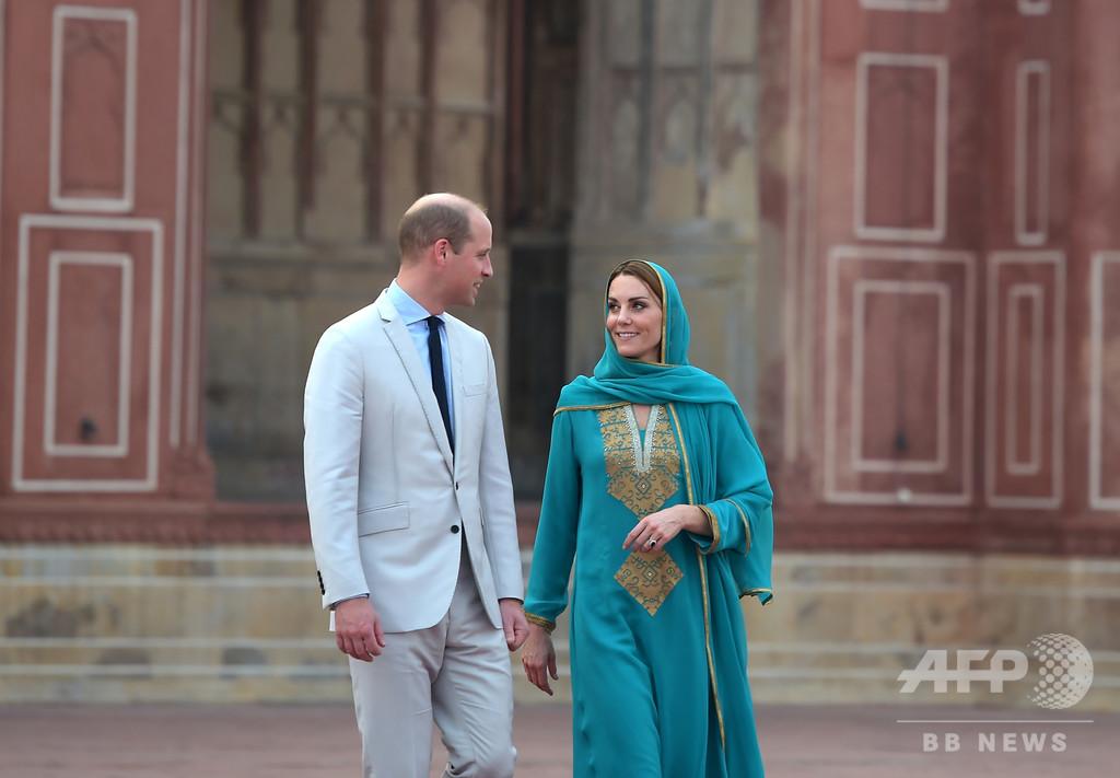 嵐に巻き込まれた英ウィリアム王子夫妻、無事パキスタン出国