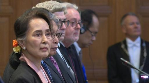 動画:スー・チー氏、ロヒンギャ問題で国際司法裁に出廷
