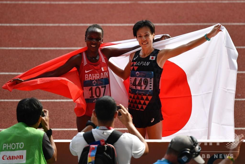 野上が女子マラソン銀メダル、世界女王チェリモが金 アジア大会