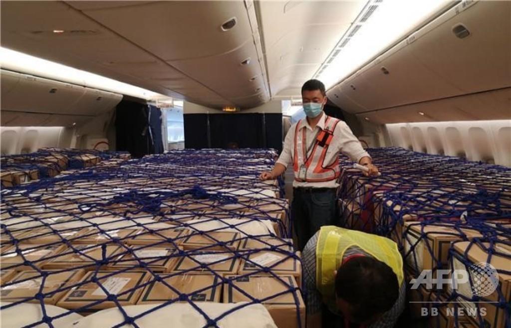 旅客便が貨物便に変身 30トンの医療物資を満載し中国からドイツへ