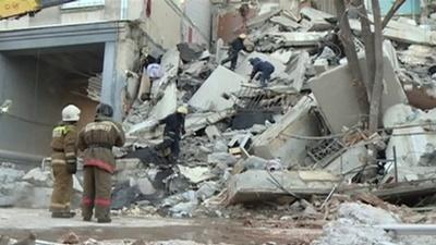 動画:ロシアの住居ビルでガス爆発 4人死亡、不明者も プーチン氏が現場視察