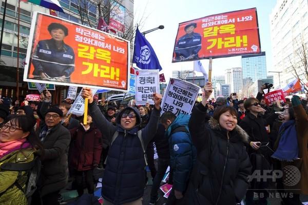 韓国憲法裁、朴槿恵大統領の罷免を宣告