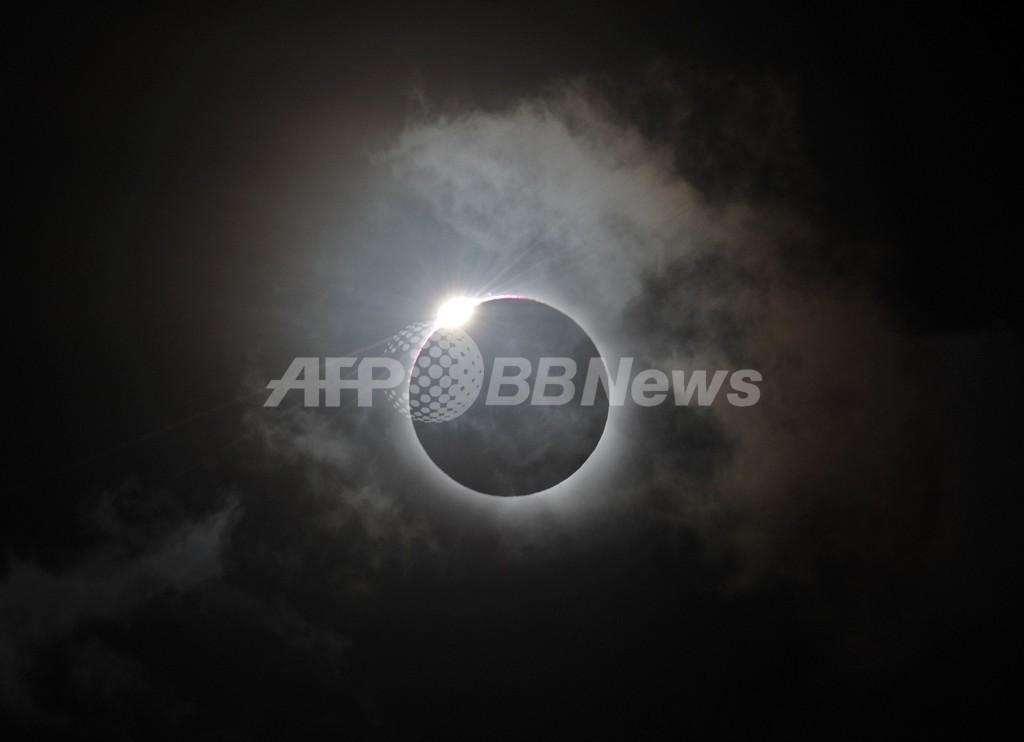 オーストラリア北部で皆既日食、約1300年ぶり