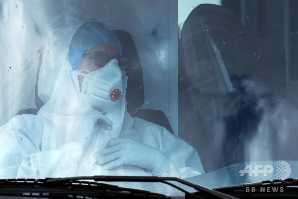 ロシアの新型コロナ感染者、24時間で1万633人増 累計13万人超え