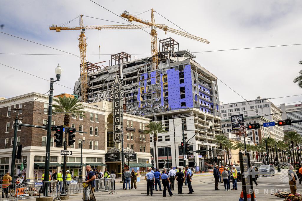 建設中のホテルが一部倒壊、1人死亡18人負傷 米ニューオーリンズ
