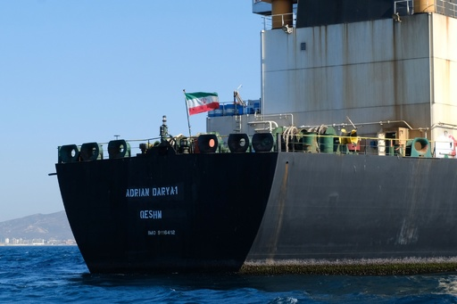 米、拿捕から解放のイラン石油タンカーをブラックリストに追加