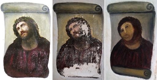 「世界最悪」の修復キリスト画に集まる賛否両論の声