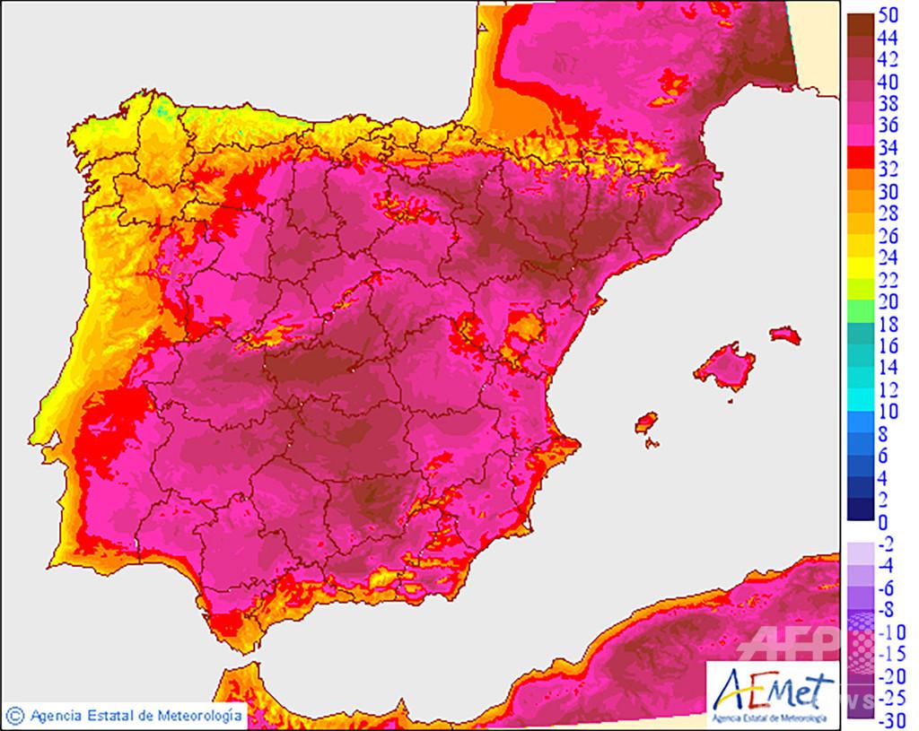 仏で史上最高気温、45度超を観測 欧州熱波、各国で死者