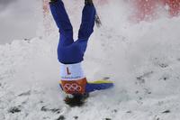 【写真特集】転倒に交錯―AFPのカメラがとらえた「痛い」瞬間、平昌五輪