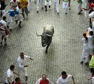 牛追い祭りで2人死亡、スペイン