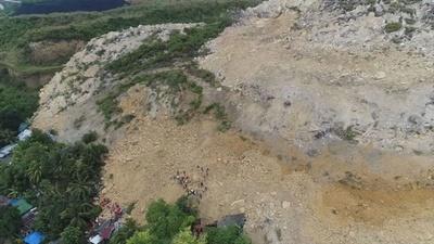 動画:比セブ島の土砂崩れ、死者22人に