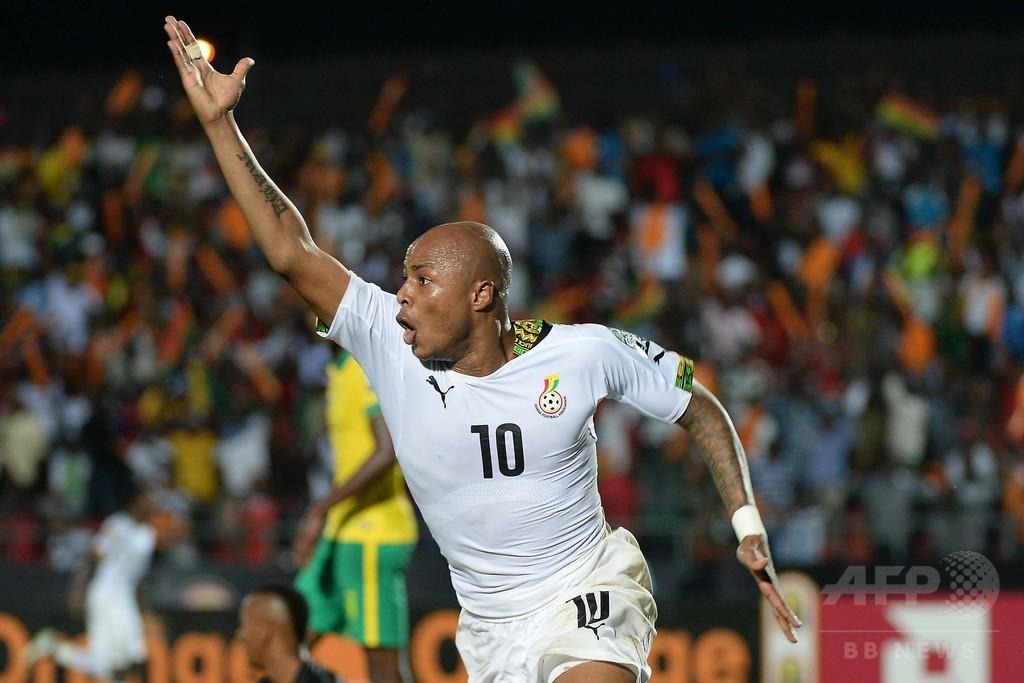 ガーナ、南アに逆転勝利で8強入り アフリカネイションズカップ