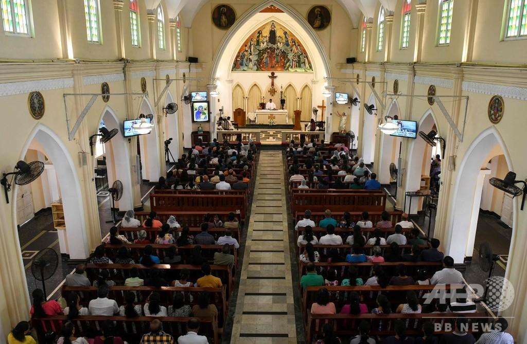 イースター連続爆発のスリランカ、カトリック教会が一般ミサを再開