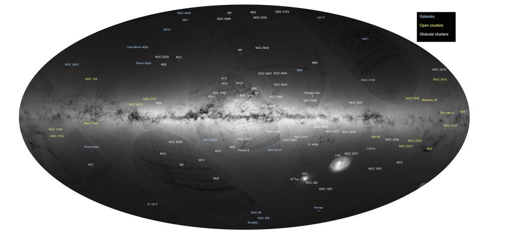 恒星10億個以上、史上最も詳細な「銀河系地図」 ESA公開