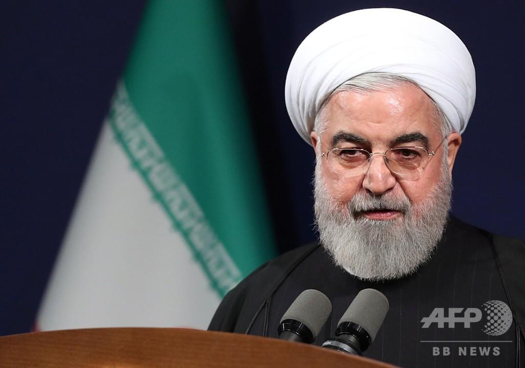「1日当たりのウラン濃縮、核合意前より多い」イラン大統領
