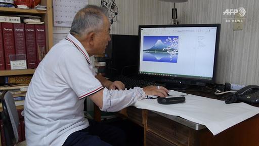 動画:エクセルで描く日本の美、76歳パソコン画家の挑戦