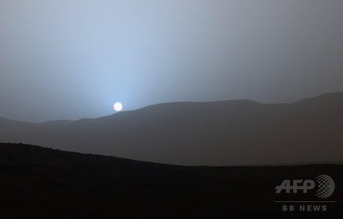 火星の青い夕焼け、キュリオシティーが撮影
