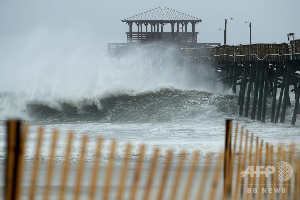 大型ハリケーン「フローレンス」、強い風雨を伴い米東部に到達