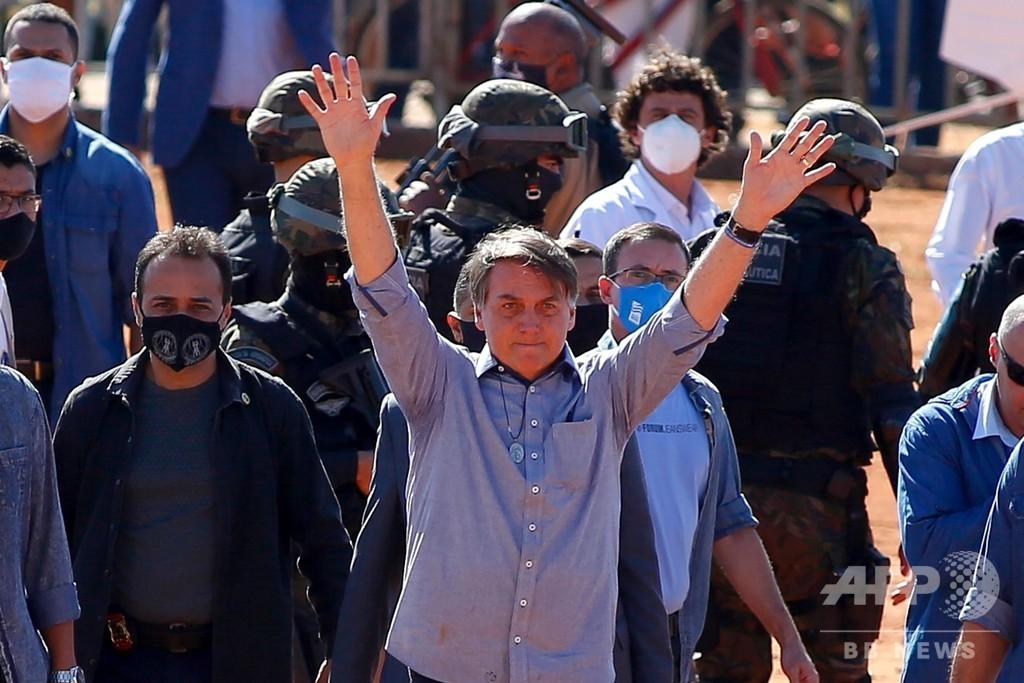 ブラジル大統領、WHO脱退に言及 トランプ氏に追随