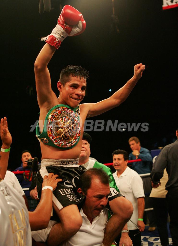 <ボクシング>ソーサ 判定でビロリアを降しWBC世界ライトフライ級タイトルを獲得 - 米国