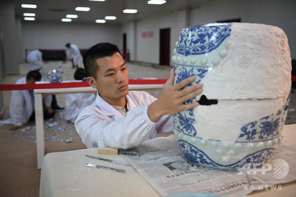 北京・円明園で出土品の修復プロジェクト始まる