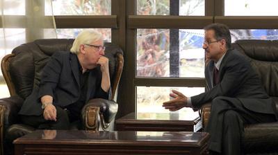 国連イエメン特使が緊急協議、ホデイダの支配権移譲でフーシ派幹部と交渉か