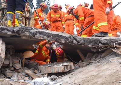中国・四川省叙永県で山が崩落 4人死亡