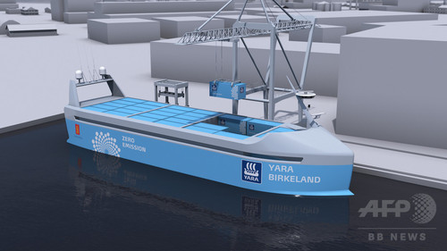 ノルウェー、世界初の電気自動貨物船の就航計画を発表