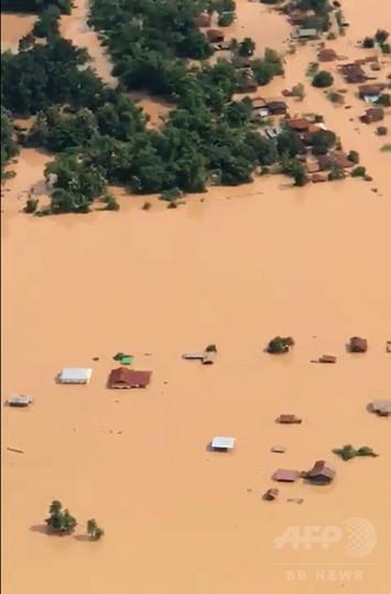 ラオスのダム決壊、1日前に破損発見 韓国の建設企業が明かす