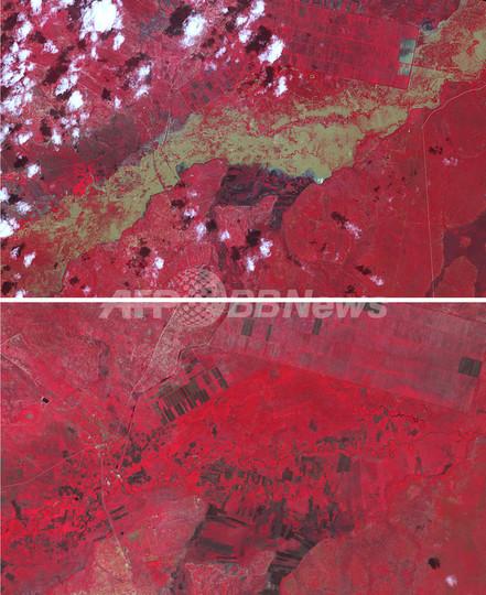 洪水の傷跡くっきり、豪雨被害のタンザニア衛星画像