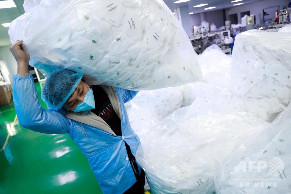 中国のN95医療用マスク、1日当たり60万枚生産 関係者へ確保を