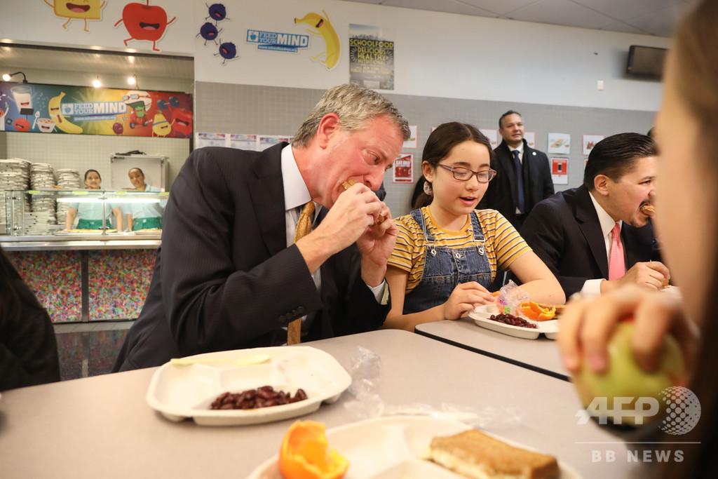 米NYの全学校で「ミートレスマンデー」実施へ、ベジタリアン向け食事提供