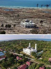 スマトラ沖大地震・インド洋津波から10年、被災地の当時と今