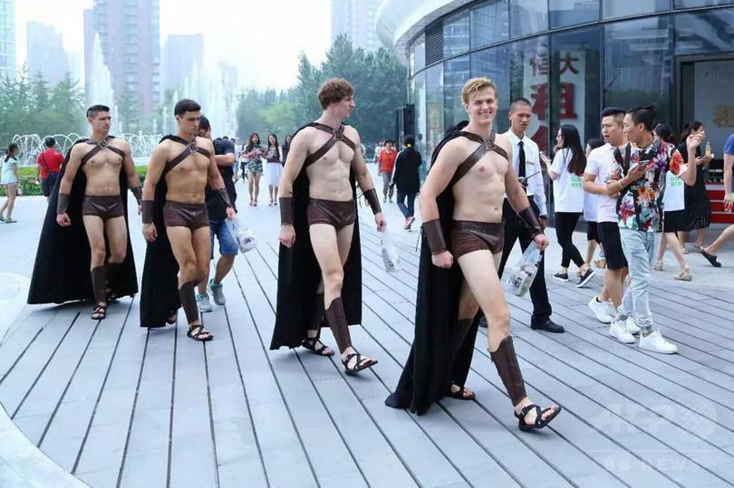 北京市内にスパルタ戦士100人、警察が取り押さえる