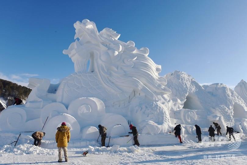 中国最北端の地、黒竜江省漠河 極寒の雪景色